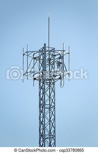 4G Cell site, Telecommunications radio tower or mobile phone base station