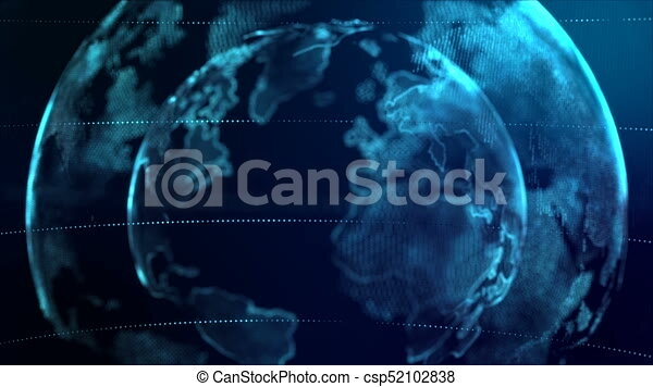 4k animation globe with dot world map element spin on dark blue 4k animation globe with dot world map element spin on dark blue background gumiabroncs Gallery