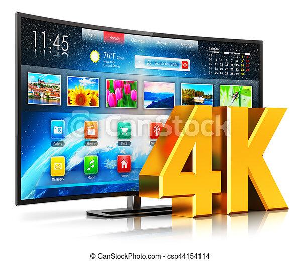 4K UltraHD curved smart TV - csp44154114