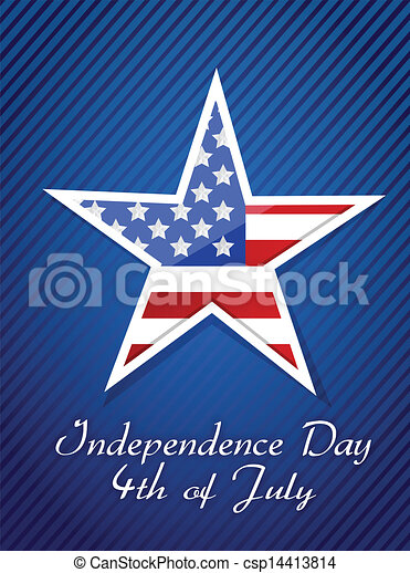 4th July, American Independence Day concept i - csp14413814