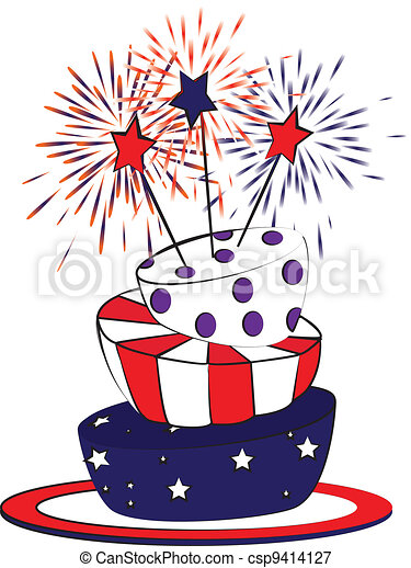 Pleasant 4Th July Cake American Forth July Independence Day Cake Cartoon Funny Birthday Cards Online Inifofree Goldxyz