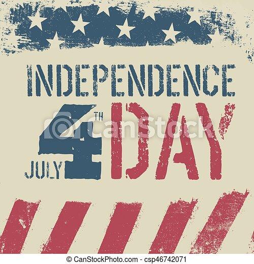 4th July Independence day  Grunge american flag background  Patriotic  vintage design template