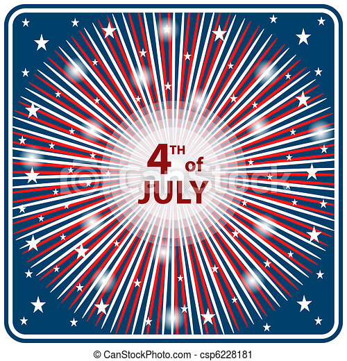 4th July independence day starburst - csp6228181
