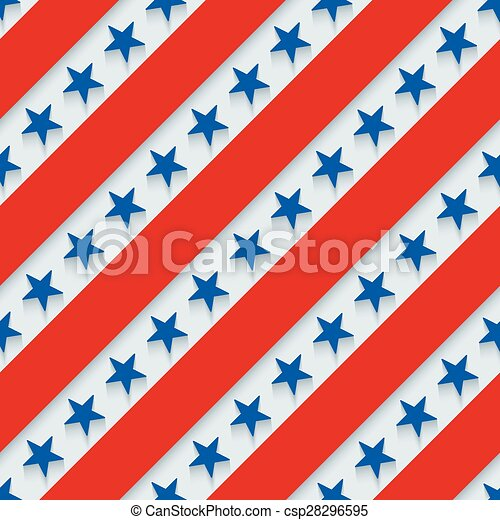 4th July Stars And Stripes Wallpaper 3d Seamless Background Vector Eps10