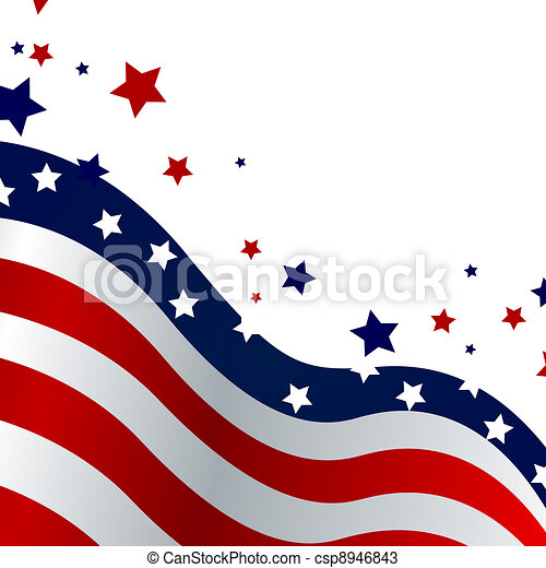4th Of July Background Vector Illustration Of A Blue And Red Stars