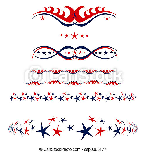 4th of July borders - csp0066177