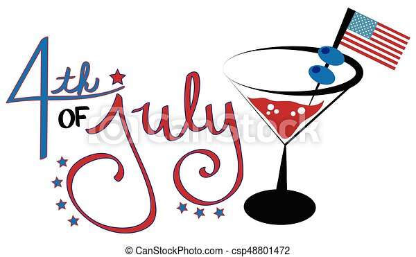 4th of July Cocktail - csp48801472