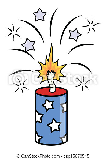 drawing art of 4th of july crackers sparking vector vector clip rh canstockphoto com 4th of july fireworks clipart free