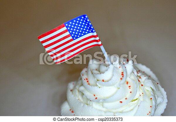 4th of July Cupcake - csp20335373