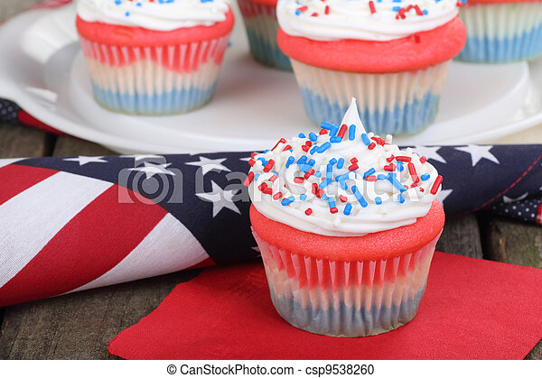 4th of July Cupcake - csp9538260