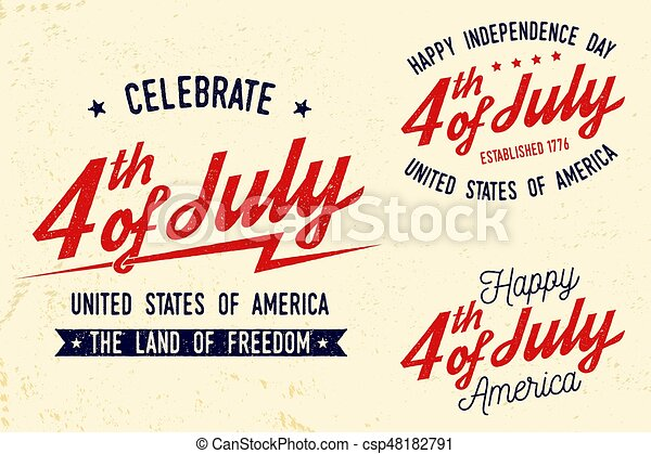 28ec89996b090b 4th of july design in retro style. fourth of july felicitation classic  postcard. independence day greeting card. patriotic banner for website  template. ...