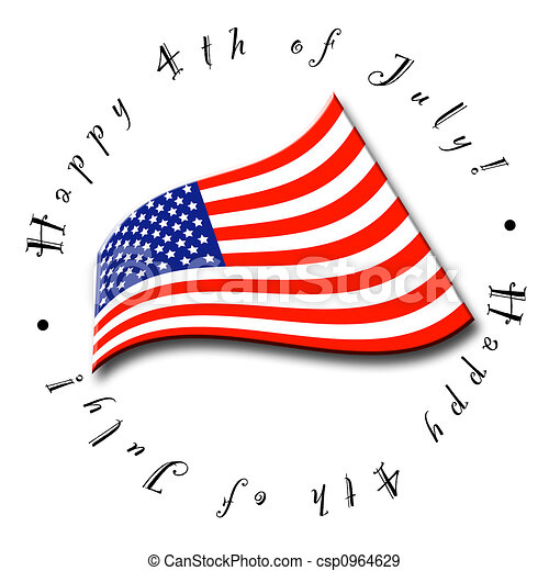 4th of July Flag - csp0964629