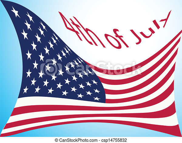 4th of july flag - csp14755832