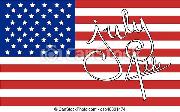 4th of July Flag - csp48801474
