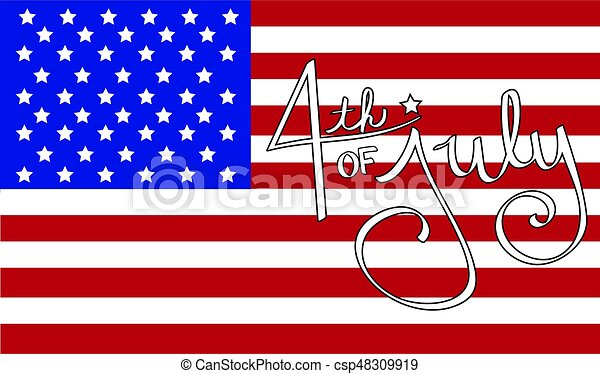 4th of July Flag - csp48309919