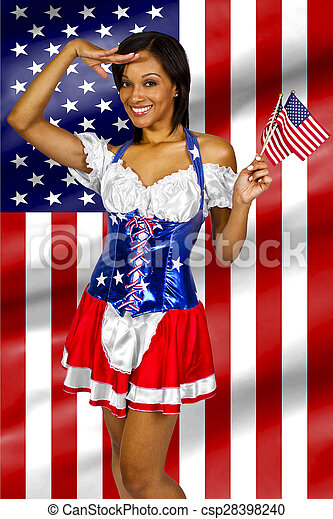 2337ff4043 4th of july girls. Women dressed up in a costume with the american ...