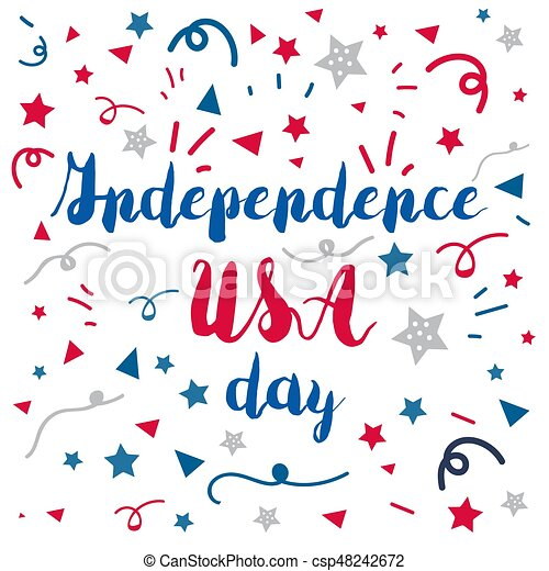 4th of july usa independence day celebraion banner national 4th of july csp48242672 m4hsunfo