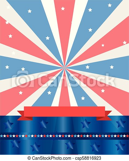 4th of July Independence Day American flag - csp58816923