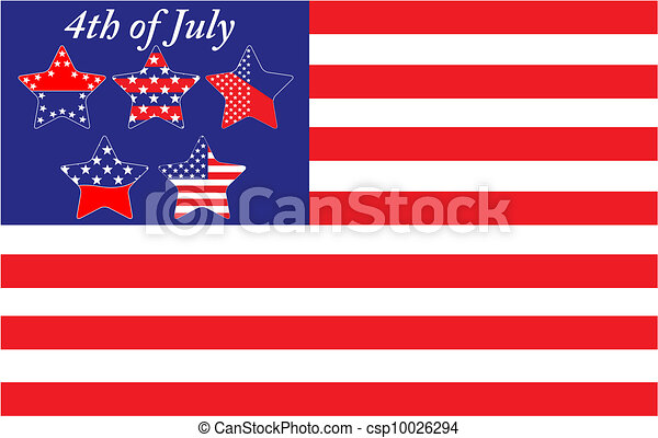 4th of July Independence Day - csp10026294