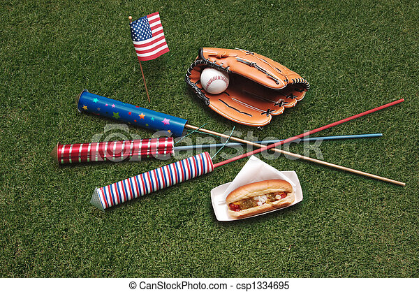 4th of July on the grass - csp1334695