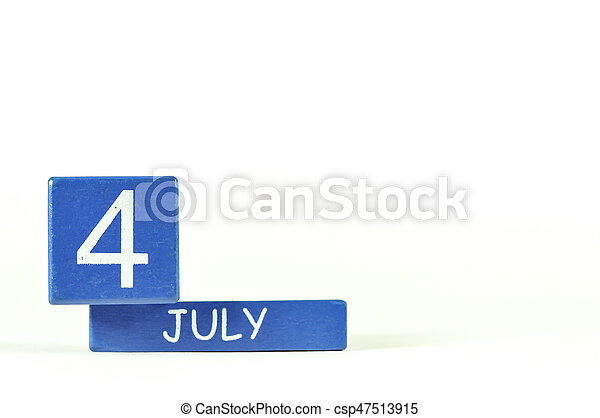 4th of July show on wood calendar - csp47513915