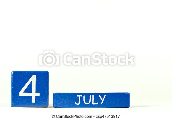 4th of July show on wood calendar - csp47513917