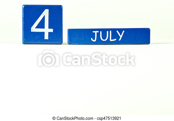 4th of July show on wood calendar - csp47513921