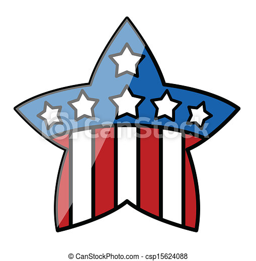 4th of july star drawing art of retro 4th of july usa flag rh canstockphoto com