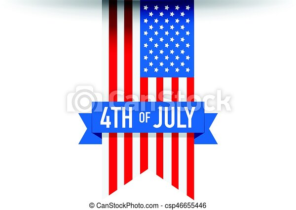 4th of July USA flag - csp46655446