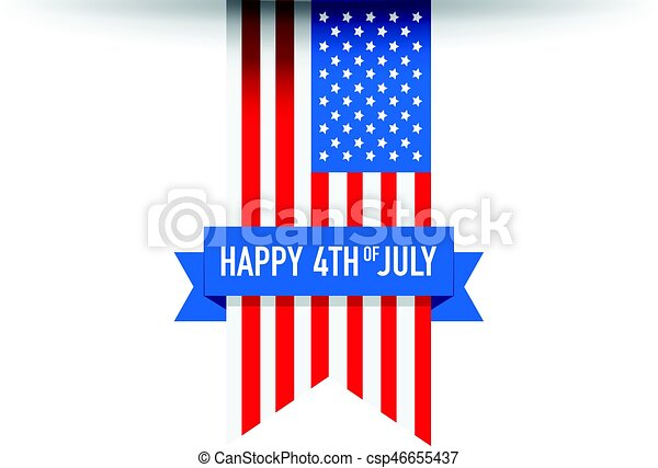 4th of July USA flag - csp46655437