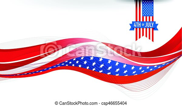 4th of July USA flag - csp46655404