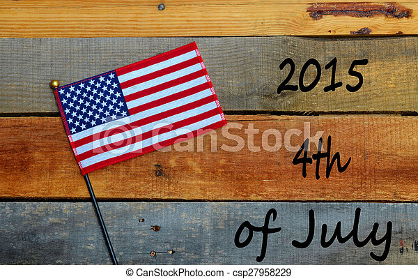 4th of July with Flag - csp27958229