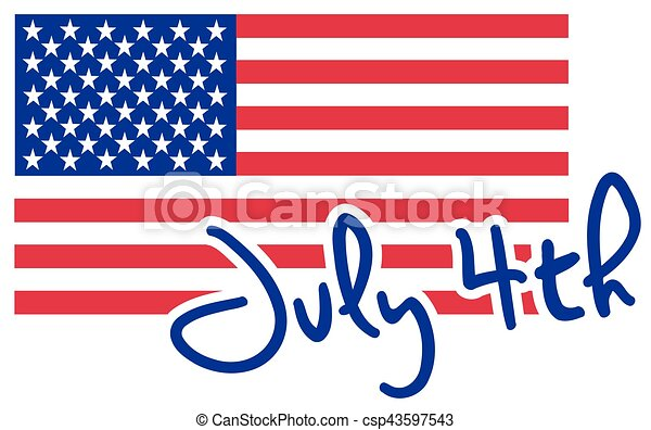 4th of july with USA flag - csp43597543