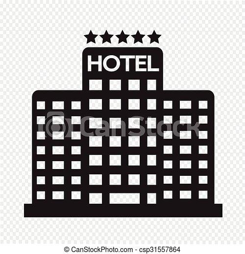5, ホテル, 星, アイコン - csp31557864