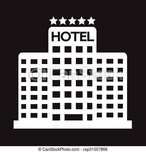 5, ホテル, 星, アイコン - csp31557866