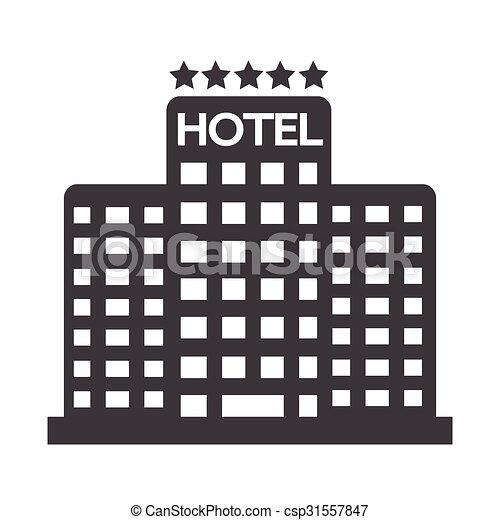 5, ホテル, 星, アイコン - csp31557847