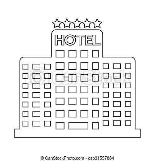 5, ホテル, 星, アイコン - csp31557884