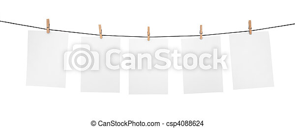 5 clean sheets on clothesline - csp4088624