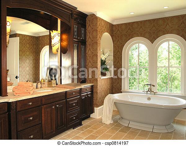 5, cuarto de baño, -, lujo, 3. Cuarto de baño, luz, ventana, lujo ...