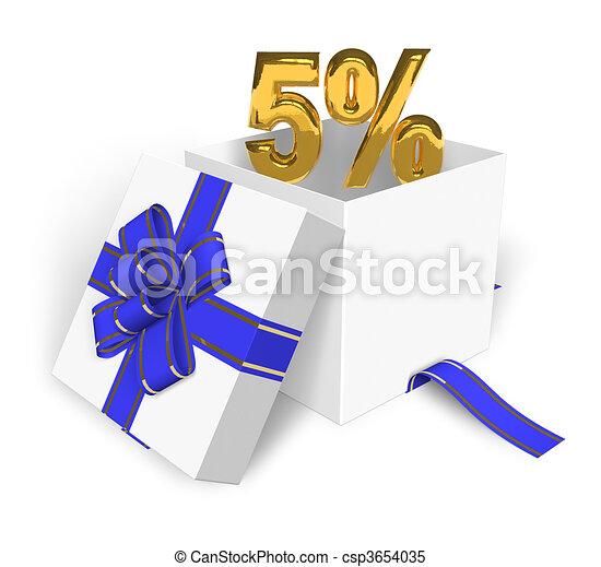 5% discount concept  - csp3654035