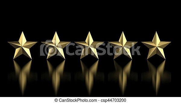 5 golden star - csp44703200