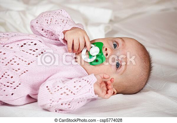 5 months baby girl - csp5774028