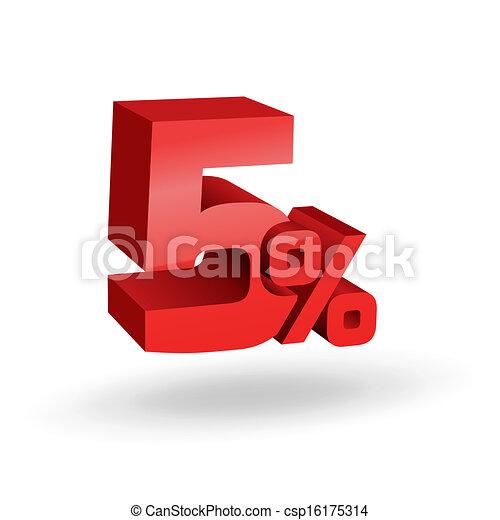5 percent illustration - csp16175314