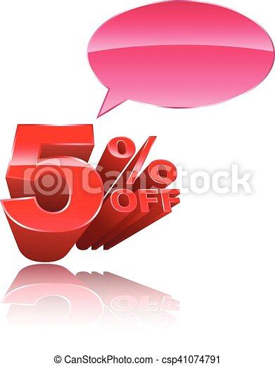 5 percent off 3D style - csp41074791