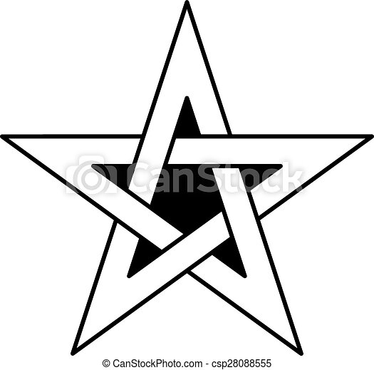 5-point Celtic star knot vector - csp28088555
