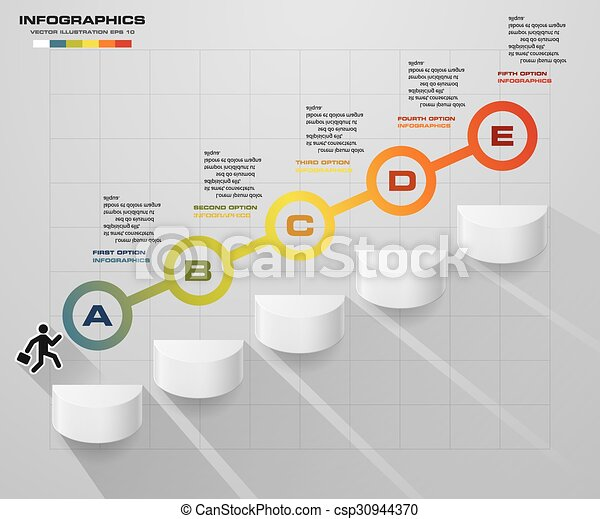 5 steps diagram template abstract business chart 5 steps diagram 5 steps diagram template csp30944370 ccuart Choice Image