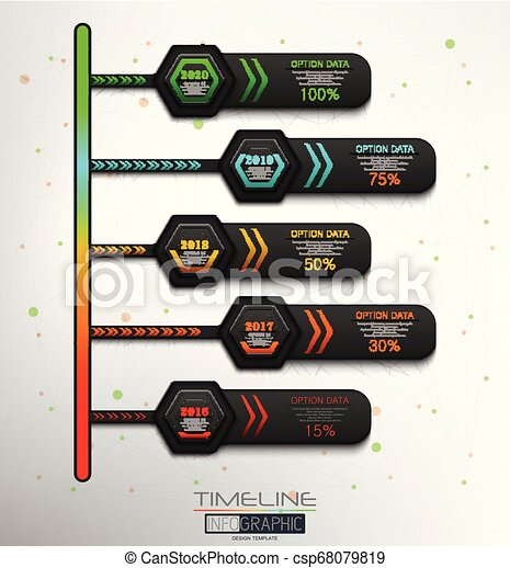 5 Steps Timeline Infographic Element - csp68079819