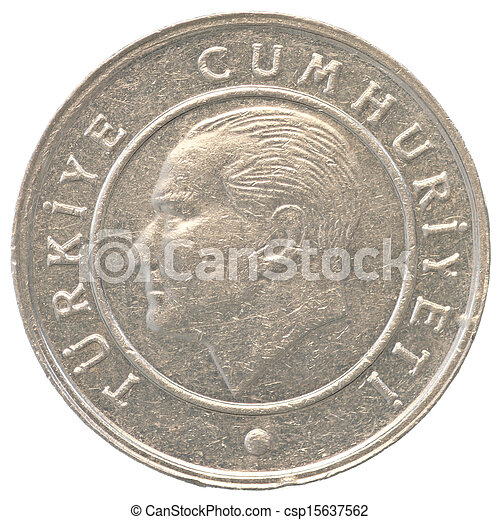 5 turkish kurush coin - csp15637562