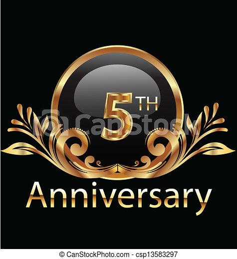 5 years anniversary birthday - csp13583297