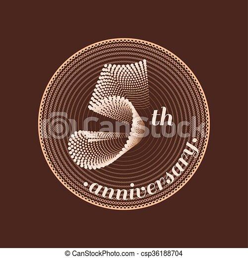 5 Years Anniversary Vector Icon 5th Celebration Design